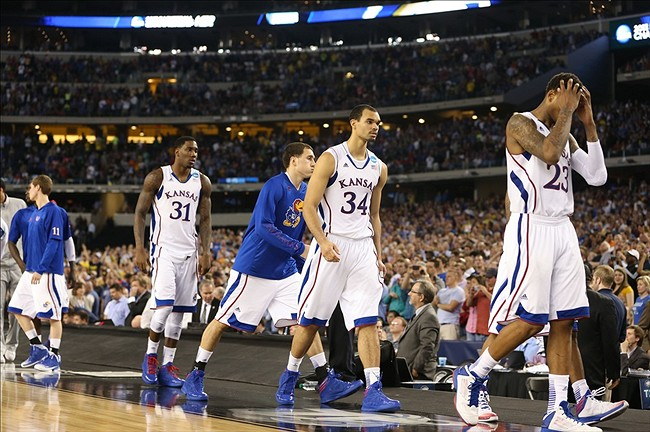 ea8b28d8392a Big 12 March Madness  Kansas  Sweet 16 Loss To Michigan Of Its Own Making